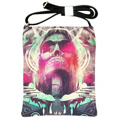 Skull Shape Light Paint Bright 61863 3840x2400 Shoulder Sling Bags by amphoto