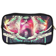 Skull Shape Light Paint Bright 61863 3840x2400 Toiletries Bags by amphoto