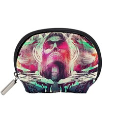 Skull Shape Light Paint Bright 61863 3840x2400 Accessory Pouches (small)
