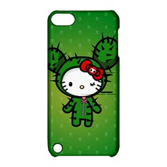 Vector Cat Kitty Cactus Green  Apple Ipod Touch 5 Hardshell Case With Stand by amphoto