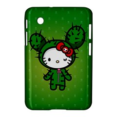 Vector Cat Kitty Cactus Green  Samsung Galaxy Tab 2 (7 ) P3100 Hardshell Case  by amphoto