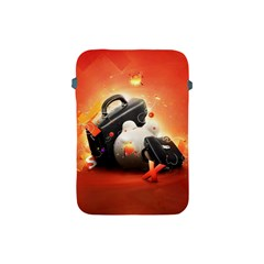 Suitcase Orange Red Black White  Apple Ipad Mini Protective Soft Cases by amphoto