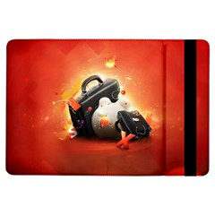 Suitcase Orange Red Black White  Ipad Air Flip by amphoto