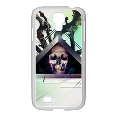 Skull Triangle Wood  Samsung Galaxy S4 I9500/ I9505 Case (white) by amphoto