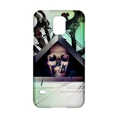 Skull Triangle Wood  Samsung Galaxy S5 Hardshell Case  by amphoto