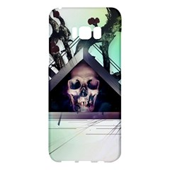 Skull Triangle Wood  Samsung Galaxy S8 Plus Hardshell Case  by amphoto