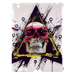 Skull Paint Butterfly Triangle  Apple Ipad 3/4 Hardshell Case (compatible With Smart Cover) by amphoto