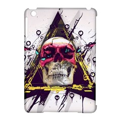 Skull Paint Butterfly Triangle  Apple Ipad Mini Hardshell Case (compatible With Smart Cover) by amphoto