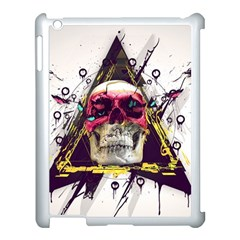 Skull Paint Butterfly Triangle  Apple Ipad 3/4 Case (white) by amphoto