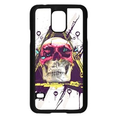 Skull Paint Butterfly Triangle  Samsung Galaxy S5 Case (black)