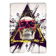 Skull Paint Butterfly Triangle  Samsung Galaxy Tab S (10 5 ) Hardshell Case  by amphoto