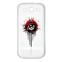 Red White Black Figure  Samsung Galaxy S3 Back Case (white)