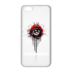 Red White Black Figure  Apple Iphone 5c Seamless Case (white)