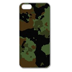 Military Background Texture Surface  Apple Seamless Iphone 5 Case (clear) by amphoto