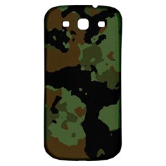 Military Background Texture Surface  Samsung Galaxy S3 S Iii Classic Hardshell Back Case by amphoto