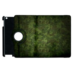 Military Background Spots Texture  Apple Ipad 2 Flip 360 Case by amphoto