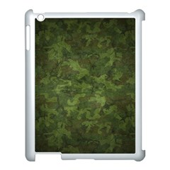 Military Background Spots Texture  Apple Ipad 3/4 Case (white) by amphoto