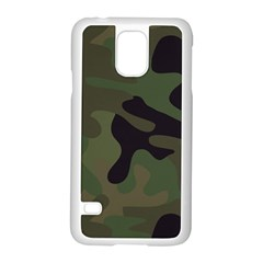 Military Spots Texture Background  Samsung Galaxy S5 Case (white) by amphoto