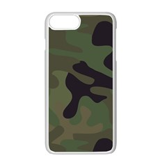Military Spots Texture Background  Apple Iphone 7 Plus White Seamless Case