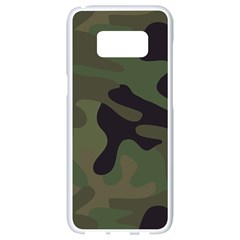 Military Spots Texture Background  Samsung Galaxy S8 White Seamless Case by amphoto