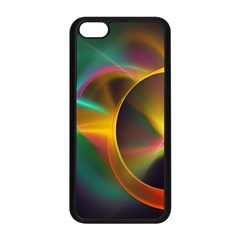 Light Color Line Smoke Apple Iphone 5c Seamless Case (black) by amphoto