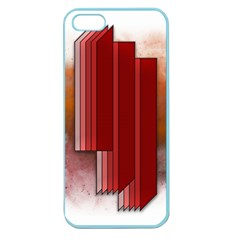 Line Shape Spot Paint  Apple Seamless Iphone 5 Case (color) by amphoto