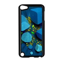 Cube Leaves Dark Blue Green Vector  Apple Ipod Touch 5 Case (black) by amphoto