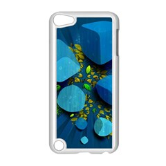 Cube Leaves Dark Blue Green Vector  Apple Ipod Touch 5 Case (white) by amphoto