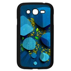 Cube Leaves Dark Blue Green Vector  Samsung Galaxy Grand Duos I9082 Case (black) by amphoto
