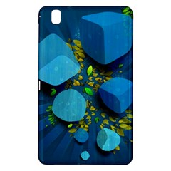 Cube Leaves Dark Blue Green Vector  Samsung Galaxy Tab Pro 8 4 Hardshell Case by amphoto