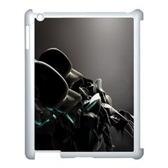 Black White Figure Form  Apple Ipad 3/4 Case (white) by amphoto