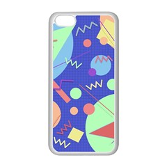 Memphis #42 Apple Iphone 5c Seamless Case (white) by RockettGraphics