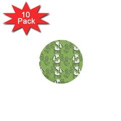 Cow Flower Pattern Wallpaper 1  Mini Buttons (10 Pack)