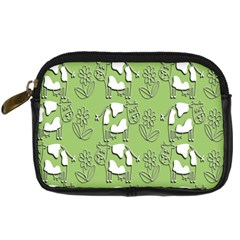 Cow Flower Pattern Wallpaper Digital Camera Cases by Nexatart