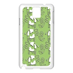 Cow Flower Pattern Wallpaper Samsung Galaxy Note 3 N9005 Case (white) by Nexatart