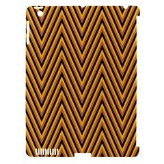 Chevron Brown Retro Vintage Apple Ipad 3/4 Hardshell Case (compatible With Smart Cover) by Nexatart