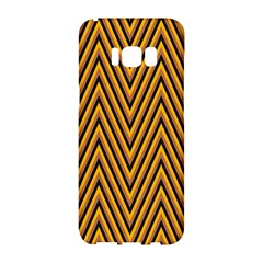 Chevron Brown Retro Vintage Samsung Galaxy S8 Hardshell Case  by Nexatart