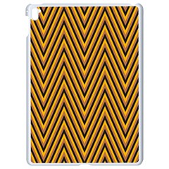 Chevron Brown Retro Vintage Apple Ipad Pro 9 7   White Seamless Case by Nexatart
