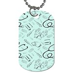 Pattern Medicine Seamless Medical Dog Tag (Two Sides) Back