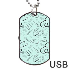 Pattern Medicine Seamless Medical Dog Tag Usb Flash (one Side) by Nexatart