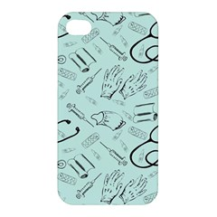 Pattern Medicine Seamless Medical Apple Iphone 4/4s Premium Hardshell Case