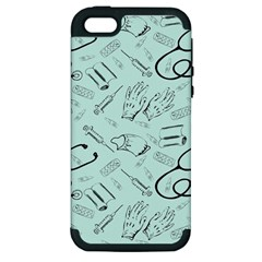 Pattern Medicine Seamless Medical Apple Iphone 5 Hardshell Case (pc+silicone)