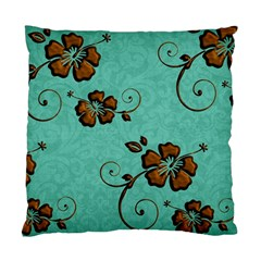 Chocolate Background Floral Pattern Standard Cushion Case (two Sides)