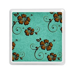 Chocolate Background Floral Pattern Memory Card Reader (square)  by Nexatart