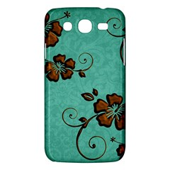 Chocolate Background Floral Pattern Samsung Galaxy Mega 5 8 I9152 Hardshell Case  by Nexatart