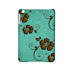 Chocolate Background Floral Pattern Ipad Mini 2 Hardshell Cases