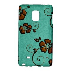 Chocolate Background Floral Pattern Galaxy Note Edge by Nexatart