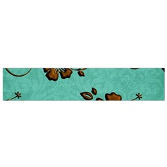 Chocolate Background Floral Pattern Flano Scarf (small) by Nexatart
