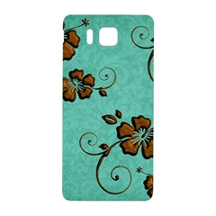 Chocolate Background Floral Pattern Samsung Galaxy Alpha Hardshell Back Case by Nexatart