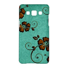 Chocolate Background Floral Pattern Samsung Galaxy A5 Hardshell Case  by Nexatart